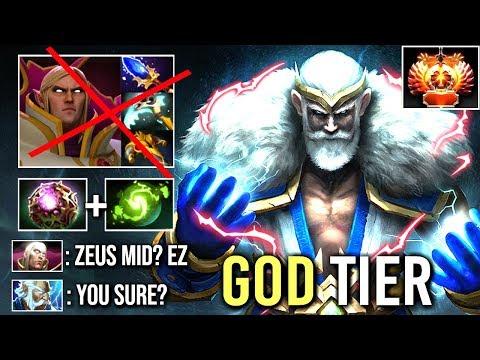 EPIC PRO Zeus Mid vs Invoker Crazy 100k Damage Even BKB Can't Help vs Mambos God Game WTF Dota 2