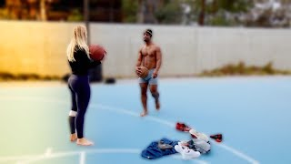 GIRLFRIEND PLAYS BASKETBALL  (1 SHOT = 1 PIECE OF CLOTHES)