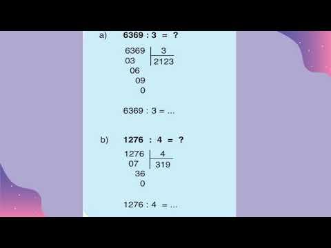 Toán 3 - Tuần 23 - Chia số có bốn chữ số với số có một chữ số