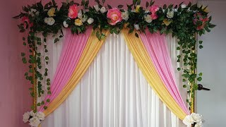 DIY_ WEDDING BACKDROP | ENGAGEMENT BACKDROP | WEDDING DECORATION IDEAS | PELAMIN TUNANGAN | NIKAH