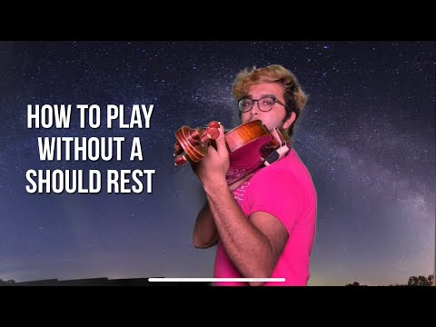 Informatio video: How to play without a shoulder rest