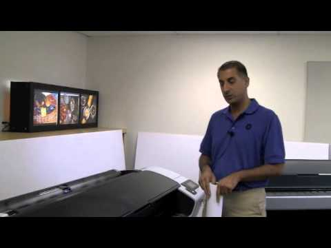 HP Designjet T790 and T1300 - Loading Media