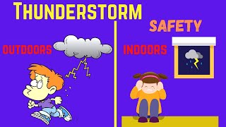 When is it safe to go outside after a thunderstorm