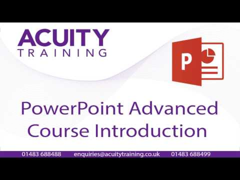 PowerPoint Advanced Training Course - Course Content - YouTube