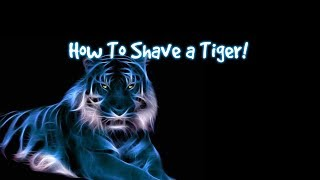 MSgtPorkins VLog   WE MET OUR GOAL! How To Shave A Tiger with CaffeinatedTigress