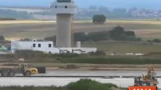 preview picture of video 'Flughafen Calden: Ein Gang über die Baustelle'