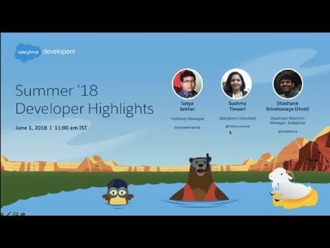 Summer 18 Developer Highlights