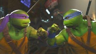 Injustice 2 - TMNT Donatello Vs Leonardo -  All Intro Dialogue/All Clash Quotes, Super Moves