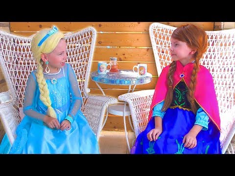 Frozen Elsa And Anna In Real Life Funny video Compilation by kids smile tv