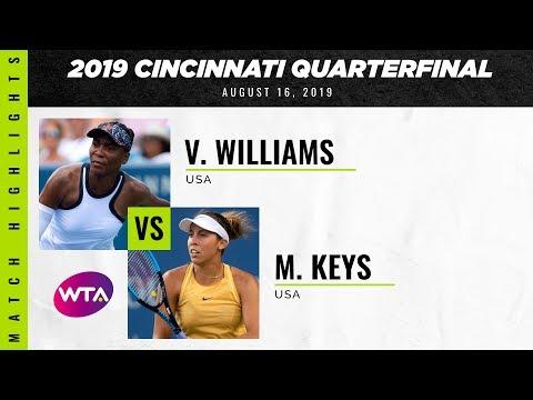 Venus Williams vs. Madison Keys | 2019 Western & Southern Open Quarterfinal | WTA Highlights