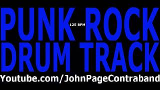 Punk Rock Drum Track 125 bpm DRUMS ONLY