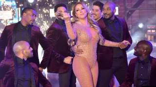 Mariah Carey embarrassing performance New Years Eve 2016 2017 LIVE