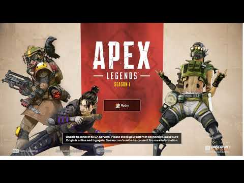 Apex Legends Server Down? Origin Unable to connect to EA Servers.