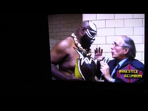 BILL APTER SHOWS HIS FAVORITE KAMALA INTERVIEW FROM WRESTLEREUNION 2005