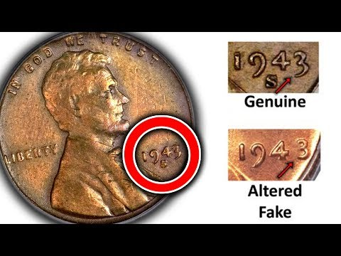 SUPER RARE $100,000 LINCOLN PENNY - MOST VALUABLE PENNIES FROM 1943