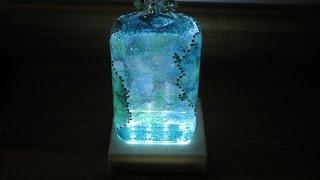 DIY Decoupaged Hydrangea Glitter Liquor Bottle
