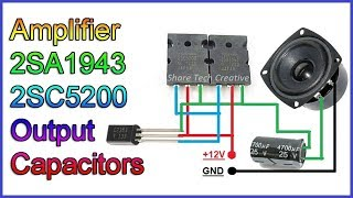 diy-amplifier-simple-2sa1943-and-2sc5200-transistor-extremely-powerful-using-output-capacitors