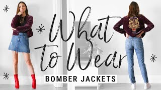 How To Style BOMBER JACKETS!  WHAT TO WEAR With Bombers This Fall!