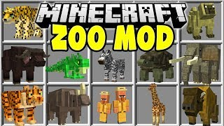 Minecraft ZOO MOD   CATCH WILD ANIMALS AND BUILD YOUR OWN MINECRAFT ZOO!!