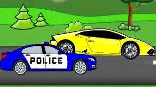 Policja pościg - Bajka Dla Dzieci Auta Police chase ^ Fairy Tales for Kids od Bazylland ????