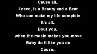 Justin Bieber - Beauty And A Beat ft. Nicki Minaj [Lyric Video by LyricMusic4u]