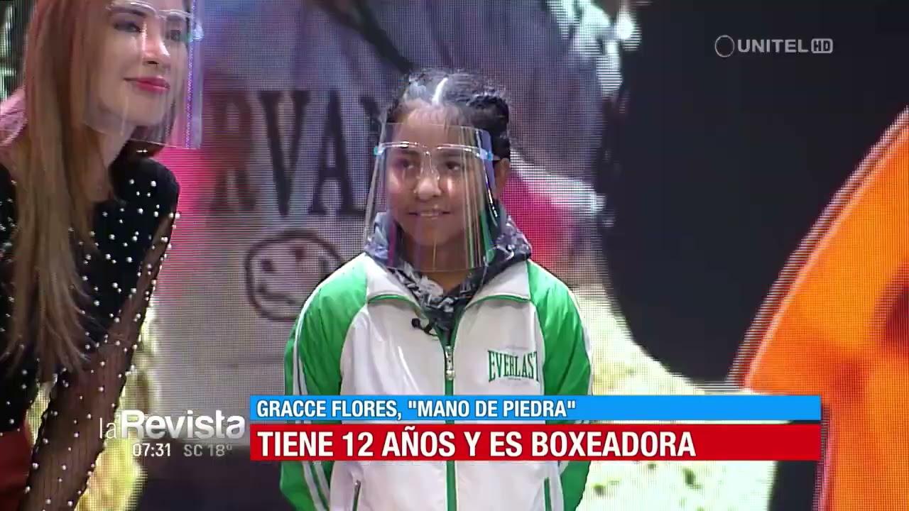 """Conoce a Gracce """"mano de piedra"""", una pequeña boxeadora de 12 años"""