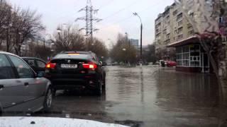 Потопы на дорогах в Ташкенте