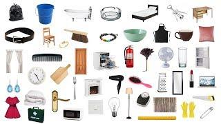 English Vocabulary - 100 HOUSEHOLD ITEMS