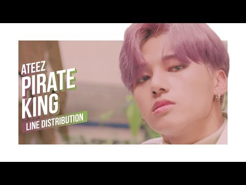 ATEEZ - Pirate King Line Distribution (Color Coded) | 에이티즈 - 해적왕