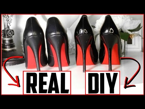 DIY Louboutin Heels – DIY Red Bottoms! (NOT SPRAY PAINTED 😷) EASY, CHEAP, FABULOUS | Kimbyrleigha