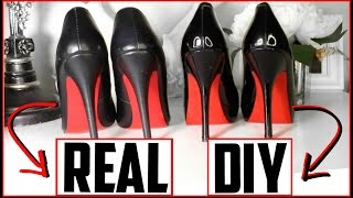 DIY Louboutin Heels - DIY Red Bottoms! (NOT SPRAY PAINTED 😷) EASY, CHEAP, FABULOUS | Kimbyrleigha