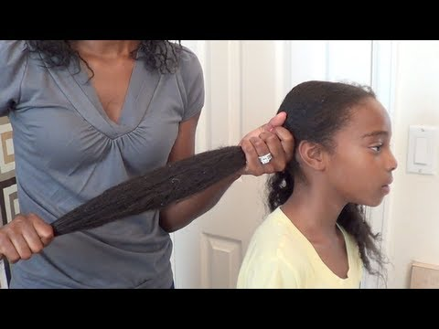taking care of relaxed hair in braids