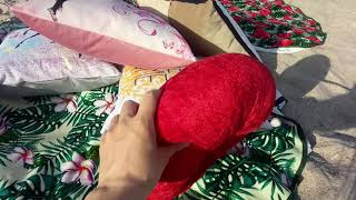 Декоративные диванные подушки 40х40см. Турция от компании Euro texti VIP - видео