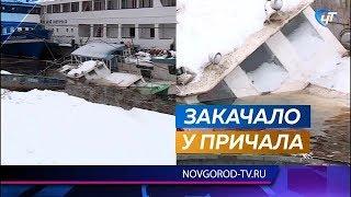 В Великом Новгороде  затонули два небольших теплохода – «Ильмена» и «Дельфин»
