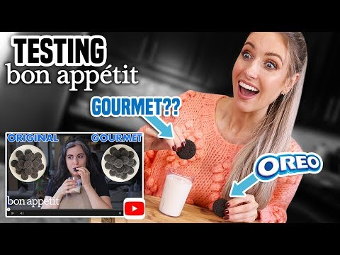 I Tried Making BON APPETIT'S GOURMET OREOS   Claire's Gourmet Makes