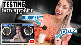 I Tried Making BON APPETIT'S GOURMET OREOS | Claire's Gourmet Makes