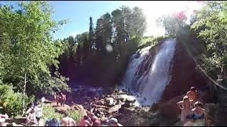 Идем к Пещерскому водопаду видео 360