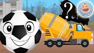 Перепутали Строительные машины — Силуэты с Веселым мячиком Футбиком