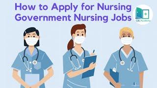 How to apply for Government Nursing Jobs || NORCET || RRB Nursing || ESI Nursing || JIPMER || TSPSC
