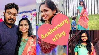 Marriage Anniversary Celebrations In Lock Down Paristiti 😜| Decoration Ideas | Telugu Vlogs From USA