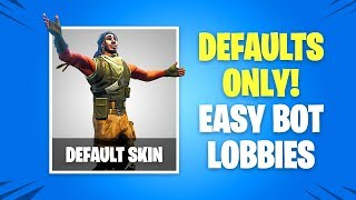 How to Play Against ONLY BOTS in Fortnite Battle Royale