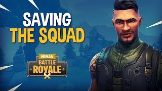Saving The Squad!! - Fortnite Battle Royale Gameplay - Ninja