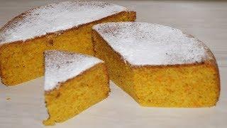 Ну Очень простой рецепт Морковного  Пирога.Пирог к чаю  в мультиварке