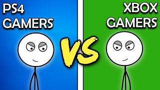 PS4 Gamers VS Xbox One Gamers
