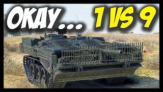 ► 1 VS 9 - OMG, STRV 103B! - World of Tanks STRV 103B Gameplay