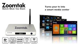 Zoomtak T8H 64bit Amlogic S905 Android TV Box 4K@60fps