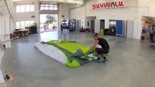 how to pack/fold your paraglider - skywalk Paragliders