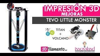 Tevo little monster | Instalación extrusor Titan y volcano E3D original