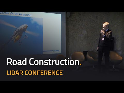 Road construction using LiDAR on UAV Helicopter