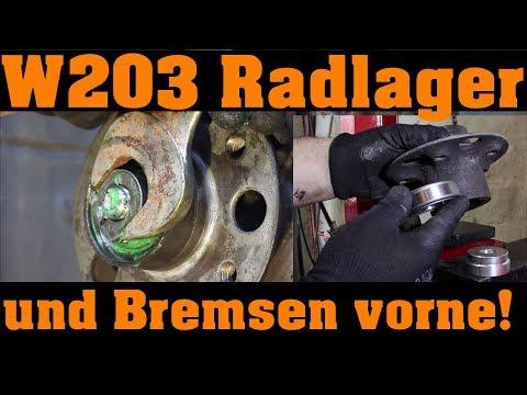 Mercedes W203 Radlagersatz, Bremssattel, Bremsscheibe, Bremsklötz und Entlüftung  🔧